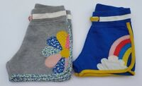 EX-MINI BODEN GIRLS CUTE APPLIQUE JERSEY SHORTS AGES 3-12 RAINBOW-FLOWER-STAR