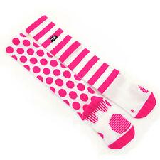 Sugoi R&R Knee High Cycling Socks // Fuchsia/White // Medium