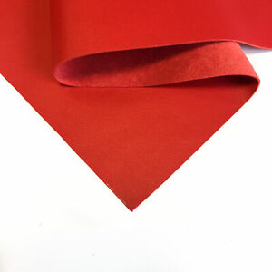 Bright RED Genuine Leather Sheet 8x10in/20x25cm // 2oz/0.8mm // Thin Scraps For