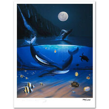 """Wyland Signed Lithograph """"Ocean Passion"""" & Book with 13 Signatures James Coleman"""