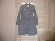 Orla Kiely ~ Art To Wear ~Tiny Blue Check Trench  Coat ~ 1