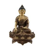 Soprammobile Tibetano Da Budda Akshobhya 10 CM Rame Nepal Bodhisattva AFR9-8707