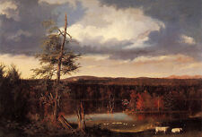 Oil Thomas cole - Landscape the Seat of Mr. Featherstonhaugh in the Distance