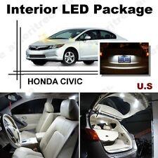 For Honda Civic 2006-2012 Xenon White LED Interior kit + White License Light LED