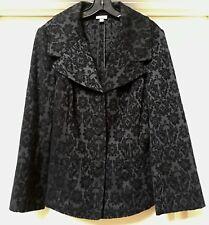 J.JILL Blazer Jacket Soft Brocade Black Tapestry, Size 14. Beautiful!
