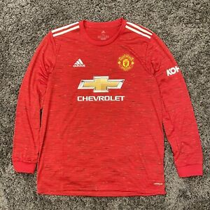 Adidas 2020-21 Manchester United Home Long Sleeve Jersey Size XXL (FM4290)