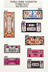 House Sign Plaque Personalised Name Plate Door Number Rennie Macintosh