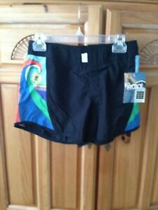 womens black board shorts by roxy juniors size 3