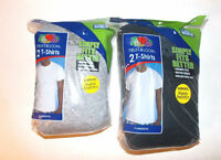 Fruit of the Loom 2 Pack T-Shirts  Black Or  Gray Size 3XL 54-56 NIP