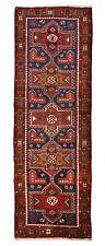 Vintage Persian Sarab Runner, 4' x 11', Blue/Brown, All wool pile