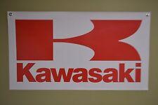 Kawasaki Motorsport BANNER Sign ATV Racing Ninja Vulcan KX MX Advertising  Logo