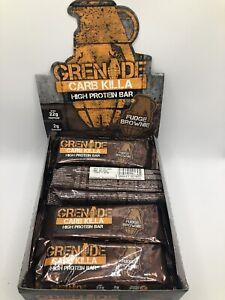 Grenade Carb Killa Fudge Brownie Protein Bars BBE:09/2021