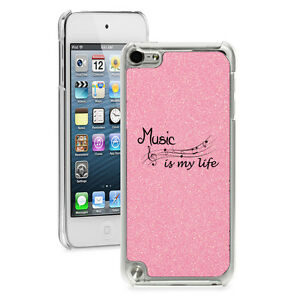 For iPod Touch 4th 5th 6th Glitter Bling Hard Case Cover Music Is My Life