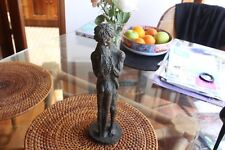 PRINCE MONYO SIGNED BRONZE SCULPTURE MAN AND WOMAN EMBRACING