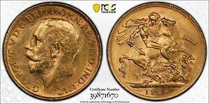 1924P Sovereign in PCGS AU58