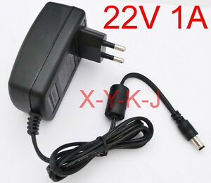 AC supply DC 22V 1A Switching Power Adapter Charger 22W EU plug DC 5.5mm 1000mA