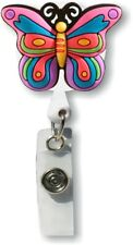 Id Badge Holder 3D Rubber cute / Butterfly