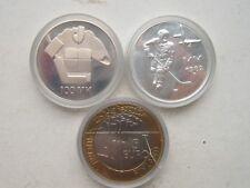 Finland Silver 50MK1982,100MK1991, 5 Euro2003 (CuNi)  ICE HOCKEY  MM !!!