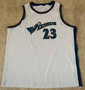 Michael Jordan #23 Washington Wizards White Sewn Jersey Adult 2XL STAINS