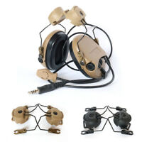 Tactical Helmet Rail Suspension Headset Helmet Headphone Bracket Holder BU