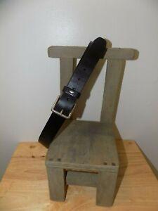 "Pre-Owned Women's Fossil Diamond Keeper Black Leather Belt - Size L (39.5"")"