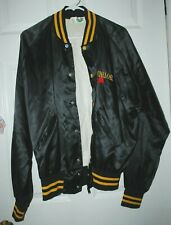 Vintage Michelob Beer Black Satin Jacket size Large