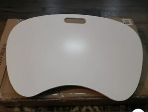 Portable Lap Desk With Cushion White Large