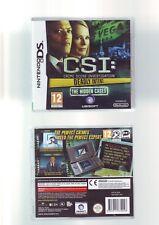 CSI: DEADLY INTENT - NINTENDO DS GAME / LITE DSi 3DS COMPATIBLE - COMPLETE - VGC