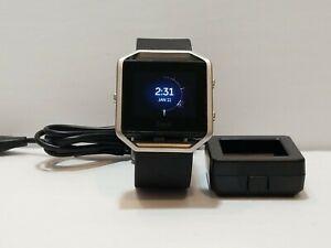 Fitbit Blaze Smart Fitness Watch Activity Tracker Black large Band.