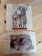 Papyros, aus Ägypten, 2 Stück ( 21x14 cm und 17,5x19 cm)