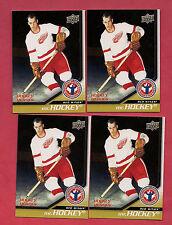 Gordie Howe 1999-00 Upper Deck 5-card Ovation Center Stage Hockey Insert Lot