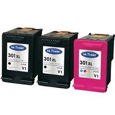 HP 301XL Ink Cartridges 2x Black & 1x Colour Latest V1 for HP Deskjet 2540