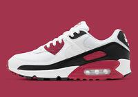 Men's Nike Air Max 90 White/White-New Maroon-Black (CT4352 104)