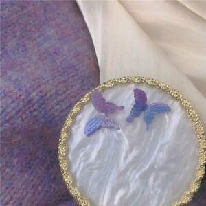 Fashion Acrylic Pearl Butterfly Drop Dangle Earrings Stud Women Jewelry Gift New