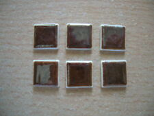 Reutter Porzellan Miniwandfliese braun brown Tiles Dollhouse 1:12 Art 1.507/9