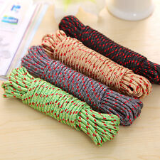 "New 1/4"" Thick 10M ROPE Camping Cord Clothesline Nylon Braided String Truck Tent"