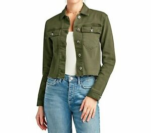 Sam Edleman The Aimee Jacket Large Moss Green Military Detailing NWT