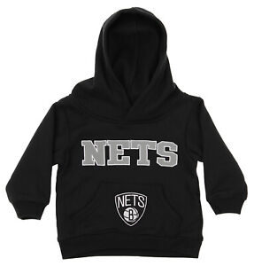 OuterStuff NBA Infant and Toddler's Brooklyn Nets Fleece Hoodie, Black