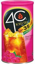 2 PACK 4C RASPBERRY ICED TEA MIX CANISTER 92.8oz