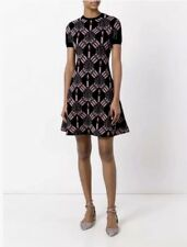 Valentino Love Blade Heart Daggers Dress Intarsia Knit Black Pink S $2980