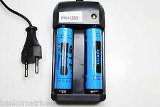 CHARGEUR RAPIDE RS08 + 2 PILES ACCUS RECHARGEABLE 18650 3.7V 12000mAh LI-ION