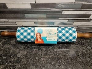 The Pioneer Woman Blue Charming Check Rolling Pin Gingham