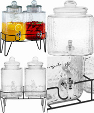 """New listing Style Setter 210266-GB 1.5 Gallon Each Glass Beverage 8.2 x 16.8"""", Clear"""