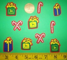 New! Cool!JOHN DEERE CHRISTMAS Iron-on Fabric Appliques ~ Iron ons