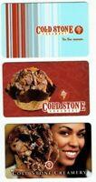 Coldstone Creamery Gift Card Lot of 3 - Ice Cream - Waffle Cone Bowl - No Value