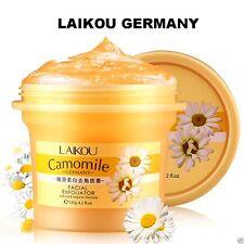 CAMOMILE EXFOLIATOR GEL~PEEL SKIN~FACE CREAM CARE 4.2 OZ~CLEAN BRUSH SET(German