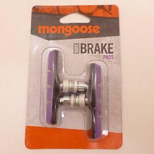 New PURPLE Mongoose BMX Bicycle BRAKE PAD SET Linear Pull 2 PADS