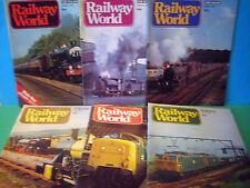RAILWAY WORLD 6no JAN~JUNE 1979 > JOB LOT OF VINTAGE MAGAZINES VGC > SEE PHOTOS