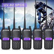5PCS BF UV-82 Portable Walkie Talkies Two Way Radio VHF UHF Long Range Ham Radio