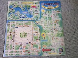 Centerville Iowa America's Home Town poster featuring town square